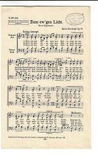 Notenblätter für Chor * Zum ew'gen Licht * SATB