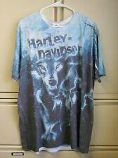 Harley Davidson Men's Blue Wolf 2XL Tee Shirt