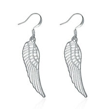 925 Sterling Silver Angel's Wings Hook Earrings Women Jewelry Fashion Gift