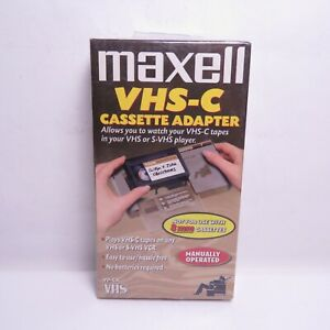 Maxell VHS-C Cassette Adapter NEW SEALED Watch VHS-C in VHS VCR Player Video
