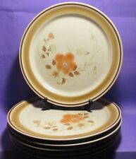 """HEARTHSIDE STONEWARE WATER COLOR DINNER  PLATES PATTERN BLUSH SIZE 10.5"""" SIX"""