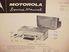"1957 IH INTERNATIONAL HARVESTER ""R"" TRUCK MOTOROLA AM RADIO SERVICE SHOP MANUAL"