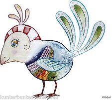 """Bügelbild """"Vogel Art Deco"""" * Aufbügelmotiv * Safuri"""