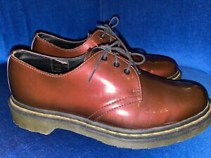 Dr Martens Patent Leather 1461 Lamper Shoes UK 7 EU 41 Cherry Red
