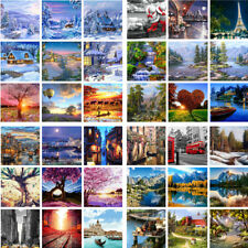 DIY Scenery Paint By Number Kit Acrylic Oil Painting On Canvas Art Home Decor SY