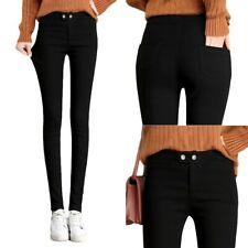 Muelle de otoño mujeres Calce Entallado Pantalones Estrechos Elastizados Lápiz Pantalones Talla Grande 5XL D