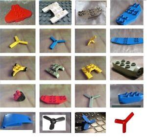 Lego Duplo Propeller Heckflosse Kufen Flugzeug Fahrwerk Klappe Hubschrauber