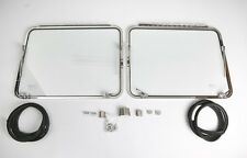STAINLESS STEEL SAFARI WINDOW COMPLETE KIT FIT VW TYPE 2 BUS SPLITSCREEN T1
