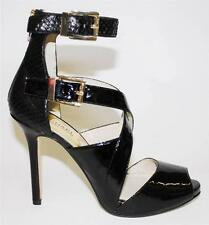 Women's Shoes Michael Kors TAMARA OPEN TOE Platform Sandal Heels Leather Black