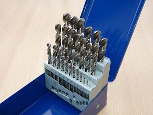 HSS-G Spiral- Bohrer Satz 25tlg. 1-13mm Metallbohrer 135° geschliffen DIN 338
