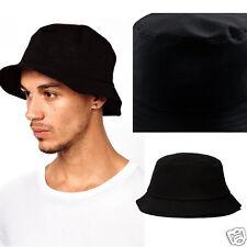 Black Unisex Men Women Boonie Outdoor Hunting Fishing Cap Solid Bucket Sun Hat