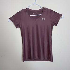 Womens Under Armour HeatGear Pink Athletic Shirt Size Medium