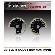 2013 - 2018 Dodge Ram Gas Speedometer Faceplate MPH