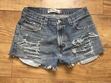 VTG Womens Levis High Waist Denim Shorts Size 12 W30 Relaxed Boyfriend Fit FAB!!