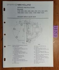 New Holland Feeder Drive Gear Box Baler 278 282 283 285 286 290 315-1425 Manual