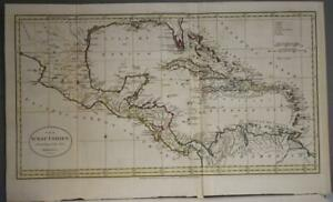 WEST INDIES FLORIDA USA CARIBBEAN CENTRAL AMERICA 1785 GUTHRIE LARGE ANTIQUE MAP
