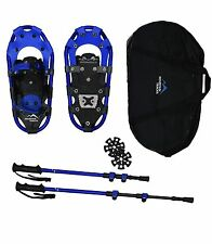 Pro series 42 cm Youth Snowshoe set with poles and bag by Mountain Tracks