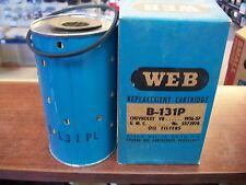1956-57 GM V8 Oil FILTER  B-131P GMC 5573976 51123WIX 4.3 4.6 NOS AC PM-11