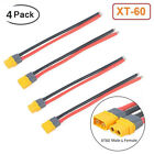 4pcs XT60 Plug Male Female Connector 12AWG Silicon Wire For RC Battery FPV Drone
