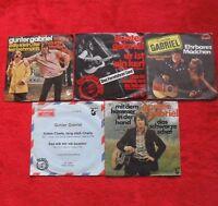5 Singles Single Sammlung von GUNTER GABRIEL - Vinyl Schallplatten