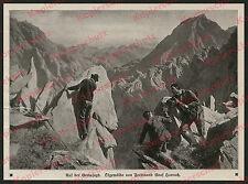 Ferdinand Graf Harrach Adel Gemsjagd Alpen Bergführer Fels Alpinismus Jäger 1913
