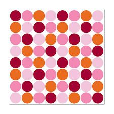 Wall Pops Lots of Dots Pink Squares Stickers Decals WPB90237