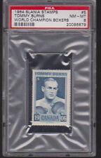 1964 Slania Stamps World Champion BOXERS #5 TOMMY BURNS PSA 8 NM/MT