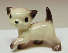 ➸ HAGEN RENAKER Cat Miniature Figurine Siamese Cat Kitten Walking