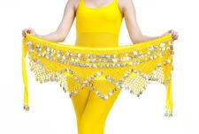 Belly Dance Costume Hip Scarf Tribal Triangle hip Belt skirt velvet &Gold coins