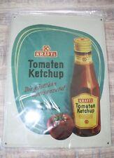 """NEU Reklame Blechschild """"Kraft's Tomaten Ketchup"""" 30x40cmNostalgie Werbung Repro"""