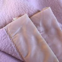Vintage Satin Trim Blanket  Pink Queen Ely & Walker Golden Jeal 73 X 87 Spring