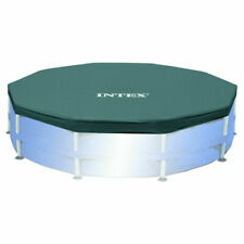 Intex Round Metal Frame Pool Cover - 10ft x 10in