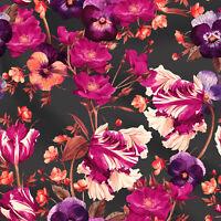 Gedruckte Blumen 100% Baumwolle Stoff Stoff 44'' breit von 1 Yard Kleid Kaftan