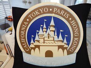 "WALT DISNEY WORLD MAIN STREET SIGN "" CALIFORNIA-TOKYO-PARIS-HONG KONG ""100% ORIG"