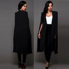 Fashion Women Loose Long Cloak Blazer Coat Cape Cardigan Jacket Trench Outwear
