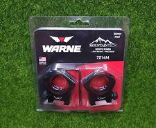 Warne Mountain Tech 30mm Medium Scope Rings, Matte Black, Lightweight - 7214M