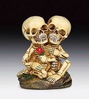 Skeleton Lovers with Rose Skull Figurine Statue Skeleton Halloween