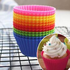 12 Moule pâtisserie individuel silicone 7cm Ustensile de Cuisine Muffins CupCake