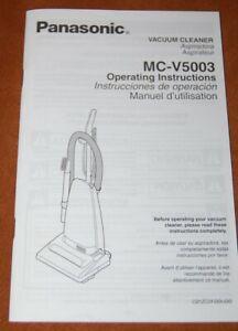 Original Panasonic MC-V5003 Vacuum Cleaner Operating Instructions User's Manual