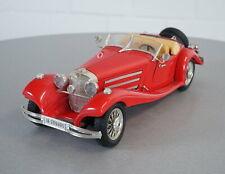 Burago 1/20 Mercedes Benz 500K Roadster Rot (1936) Die-Cast Modell Auto Vintage