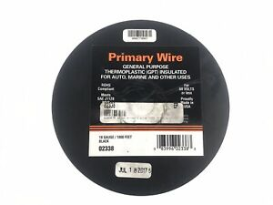 Primary Wire General Purpose Thermoplastic Gpt Insulated 18 Gauge 1000 Ft 02338