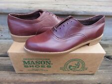 NEW Mason Oxford Casual Dress Shoes Brown Sz 10 D NOS Leather Casual dress shoes