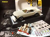 Pioneer Plain White 1968 Ford Mustang Notchback DPR 1/32 Slot Car Kit PWK#1