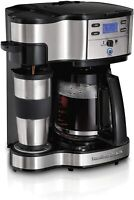 2-Way Brewer Coffee Maker, Single-Serve and 12-Cup Pot, Stainless Steel (49980A)