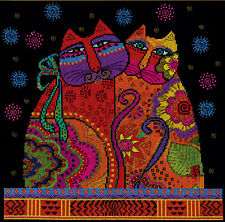 Cross Stitch Kit ~ Design Works Laurel Burch Cat Pair #DW3383