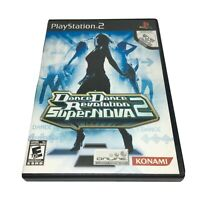 Dance Dance Revolution SuperNova 2 (Sony PlayStation 2, 2007) Complete w Manual