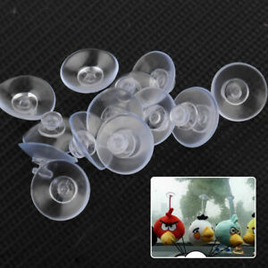 50x Plastic Suction Cups Clear Suction Cup 2MM For Fairy Lights Wedding Cables