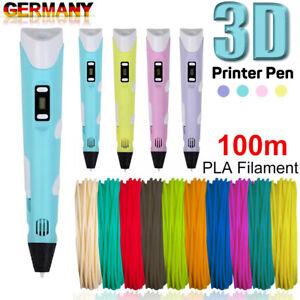 3D Druckstift ,3D Stift, mit 12 Farben 120ft PLA Filament, Geschenk für Kinder