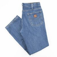 Vintage CARHARTT  Blue Denim Relaxed Straight Jeans Mens W35 L32