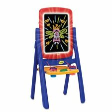 Crayola Qwikflip Glow Easel, Yellow, Red, Blue,